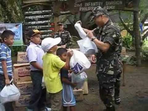Watch Philippine Army children share gifts to Typhoon Victims in Mindanao.wmv