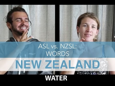 American Sign Language vs. New Zealand Sign Language: Words