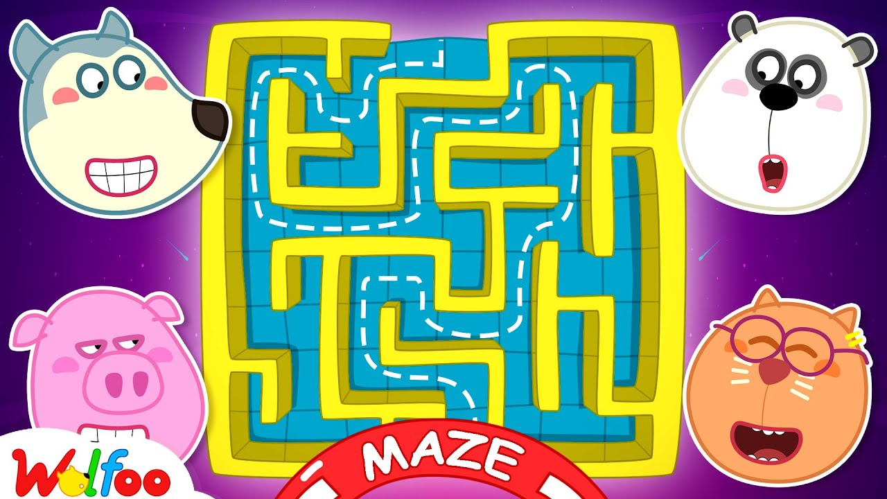 Wolfoo Has Fun Playtime with Giant Inflatable Maze Challenge for Kids at Playground | Wolfoo Channel