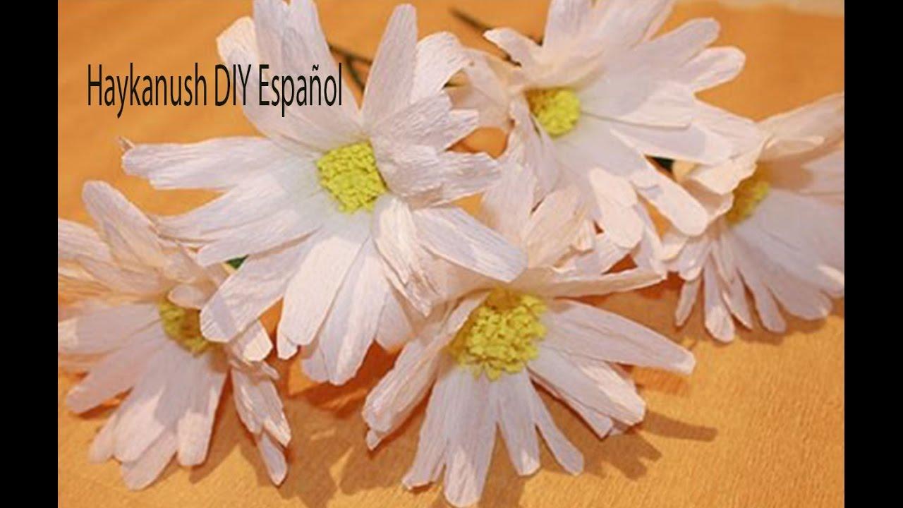Como hacer flores de papel crepe margaritas youtube - Videos de como hacer crepes ...