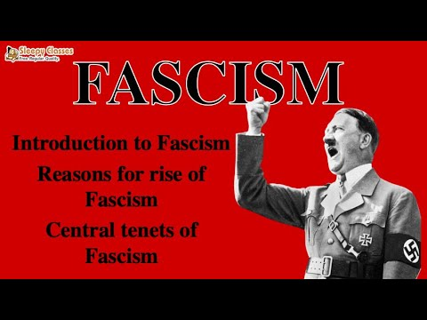 Political Science Optional for UPSC - Fascism - A. 8. f  (Political Ideologies)
