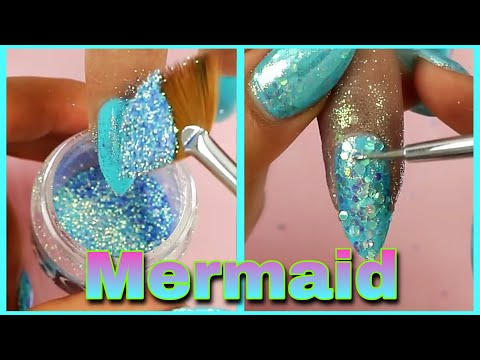 Como recrear mis UÑAS 💅🏻 MERMAID NAILS