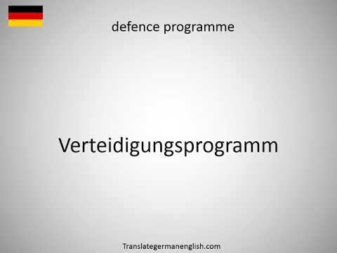 How to say Defence Policy Guidelines in German?
