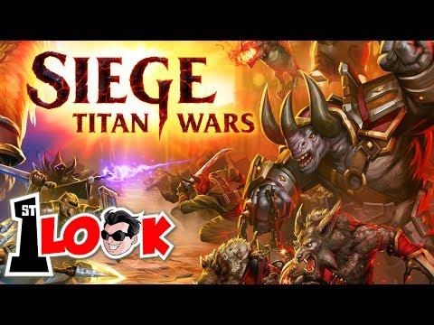 SIEGE: TITAN WARS ! Where Clash Royale meet Total War (1st Look iOS / Android Gameplay)