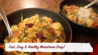 Easy, Fast & Healthy Minestrone Soup
