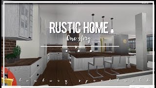 Roblox   Bloxburg   Rustic One-Story Home