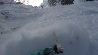 Super C Couloir Portillo Chile w/Traverse Footage