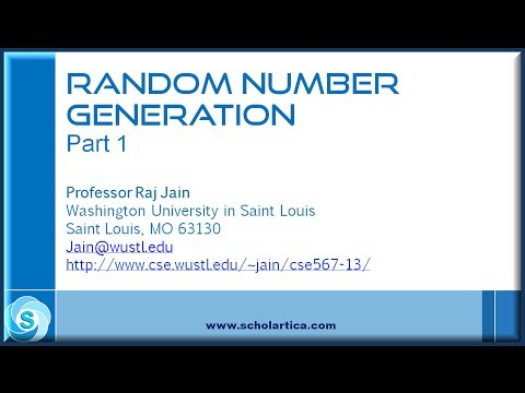 Random Number Generation: Part 1