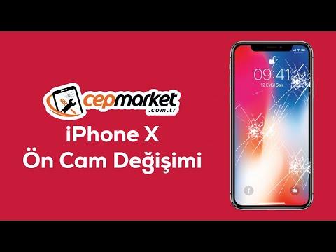 IPhone X Ön Cam Değişimi Kırık Ekran #cepmarket Com.tr