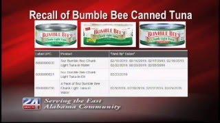 Voluntary Recall of Bumble Bee Canned Tuna