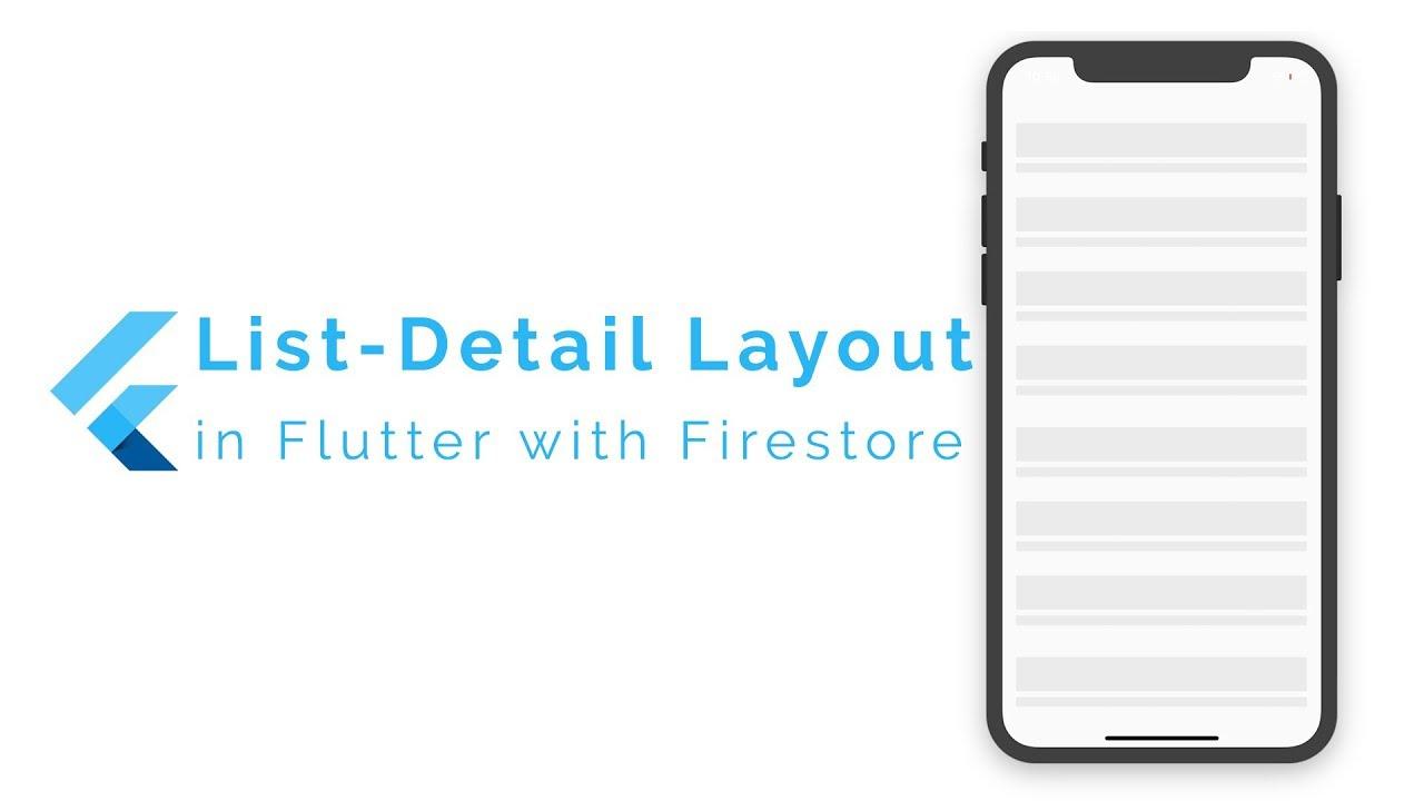 List Detail with Cloud Firestore in Flutter