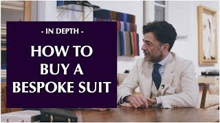 How to buy a bespoke suit - with Sartoria Vestrucci in Florence
