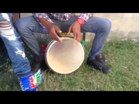 Beating drums in Guyana