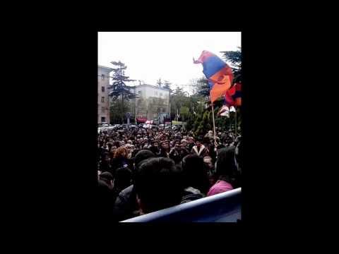 Армяне у посольства Турции в Тбилиси 24.04.2015г