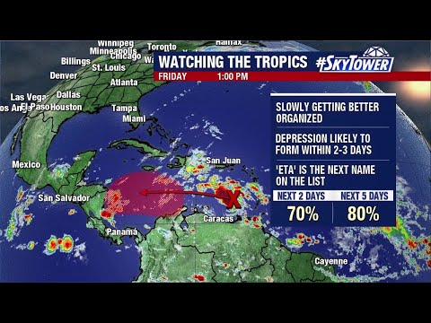 Tropical weather forecast: Oct. 30, 2020