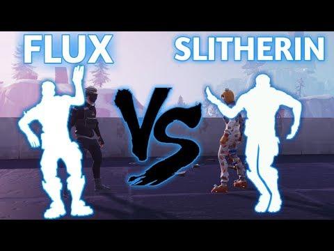 FORTNITE  FLUX EMOTE VS SLITHERIN EMOTE!!!