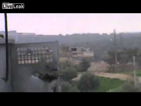 FSA Anti-aircraft Gun Attack SAA Position and Get a Return Fire From Them