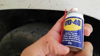 USE OF WD-40…