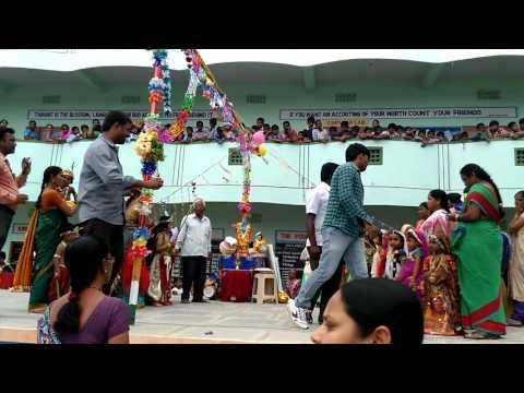Sri SAI Balaji model school Krishnasthami celebration markapur