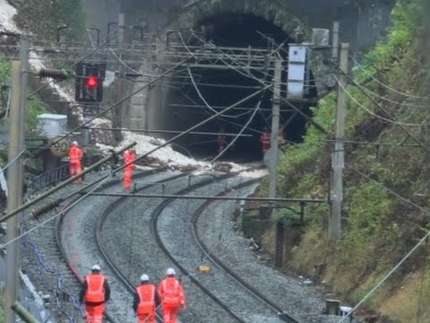 Raw: Storms Cause Landslide, Flooding in UK
