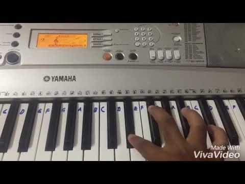 Neethaane En Ponvasantham - Vaanam Mella Pianocover Keyboard Tutorial | Jiiva, Samantha