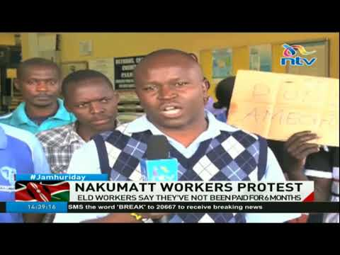 Nakumatt workers protest, say they've not been paid for 6 months