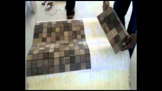 Natural Wood Mosaics (gemss) - How To Apply On Surface - Hindi Version