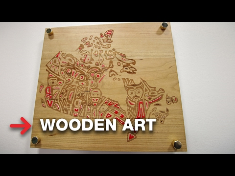 Wooden Art | Solid Wood Plaque | Trotec Woods