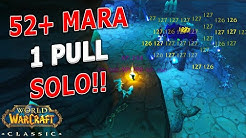 WoW Classic - SOLO MARA 1 PULL SPEED LEVELING!! LEVEL 52-55! 160K+ XP/HR!