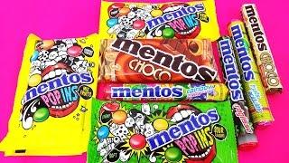 A lot of MENTOS CANDY Original Flavors