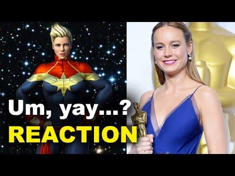 Brie Larson is Captain Marvel REACTION