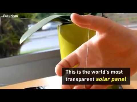Transparent solar panel technology
