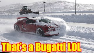 homepage tile video photo for Bugatti Veyron Snow Plow meets Utah Snow Typhoon