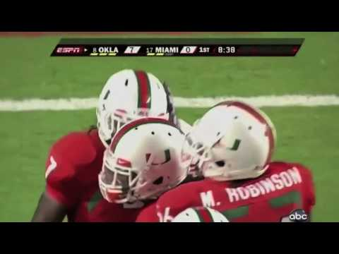 Miami Hurricanes - Ray Ray Armstrong makes a big h...