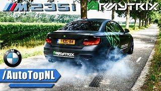 BMW M235i ARMYTRIX Exhaust SOUND Drive BURNOUT & LOUD Revs by AutoTopNL