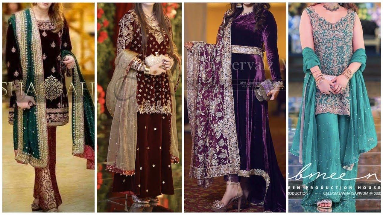 [VIDEO] - Winter latest Top Cute & Stylish Velvet Brocade Dresses 4