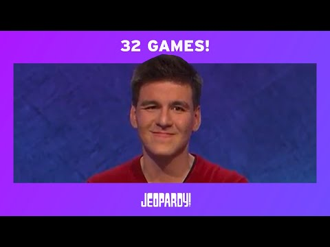 James Holzhauer's Record-Breaking 32-Game Streak | JEOPARDY!