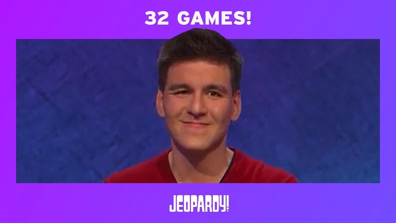 Image result for James Holzhauer's Record-Breaking 32-Game Streak | JEOPARDY!