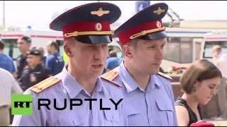 Видео с места событий: Устранение последствий трагедии в московском метро