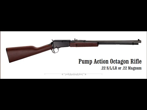 Henry Pump Action Octagonal .22 Long Rifle: New Age Gallery Gun (Model H003T)