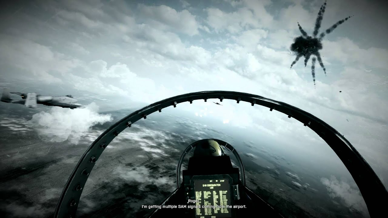 bf3 battlefield 3 gameplay Jet Plane mission: En chasse - going ...