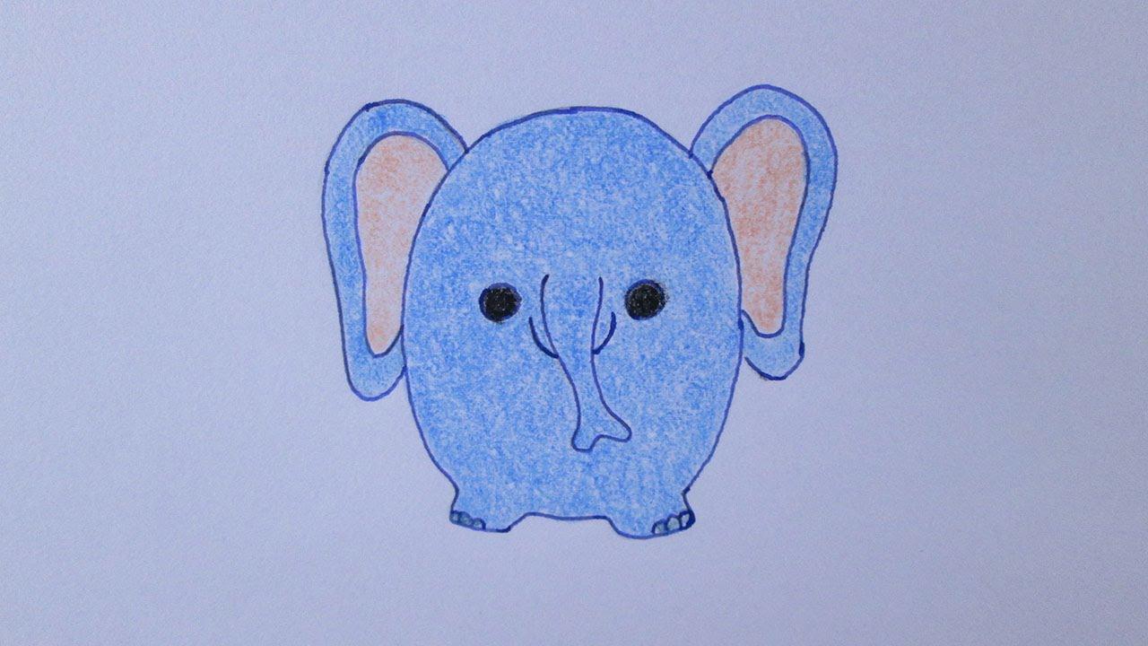 como desenhar um elefante muito fofo youtube