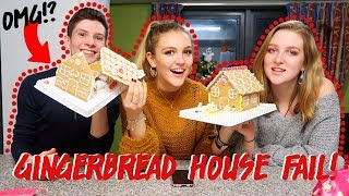 DECORATING GINGERBREAD HOUSES WITH MY FLATMATES!! *FAIL!!*