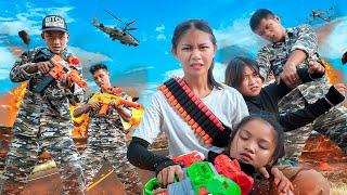 Xgirl Studio : Three Pretty Girls Trapped Criminal SEAL X Girl Nerf Guns Rescue Elly From Prison