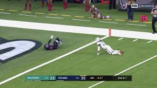Will Fuller SADLY TEARS ACL while running route: Texans vs Dolphins Week 8