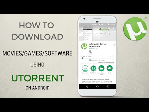 how to download movies using utorrent in android