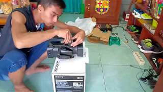 UNBOXING CAMCORDER PROFESSIONAL SONY HXR NX100
