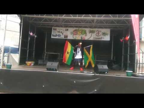 Ras king bobo1  perform at the Birmingham Caribbean food festival 2016