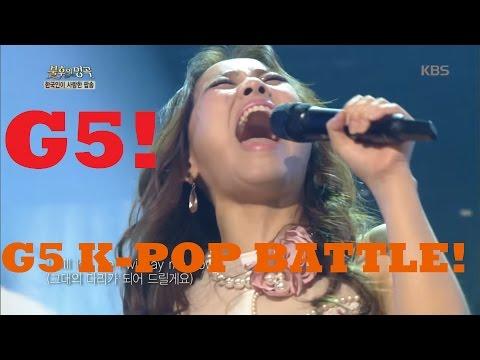 G5 Vocal battle Female Korean Singers ( Ailee, Sohyang, etc...)