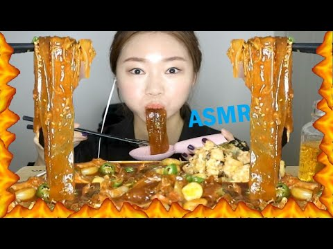 ASMR SPICY BEEF INTESTINES; MAKCHANG WIDE GLASS NOODLES REALSOUND MUKBANG l 양념소막창 중국당면 먹방